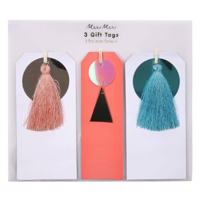 MERIMERI Sequin & tassel gift tags