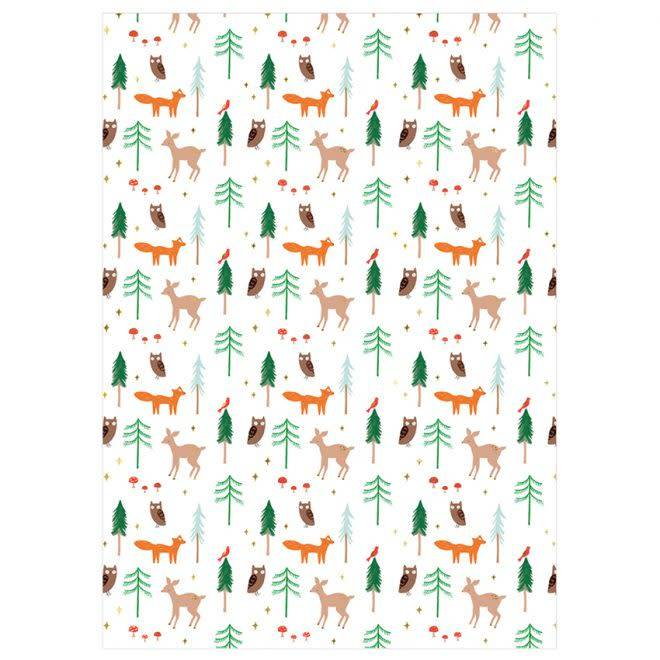 MERIMERI Woodland gift wrap roll