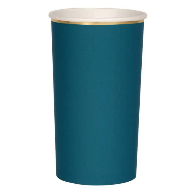 MERIMERI Dark teal highball cups