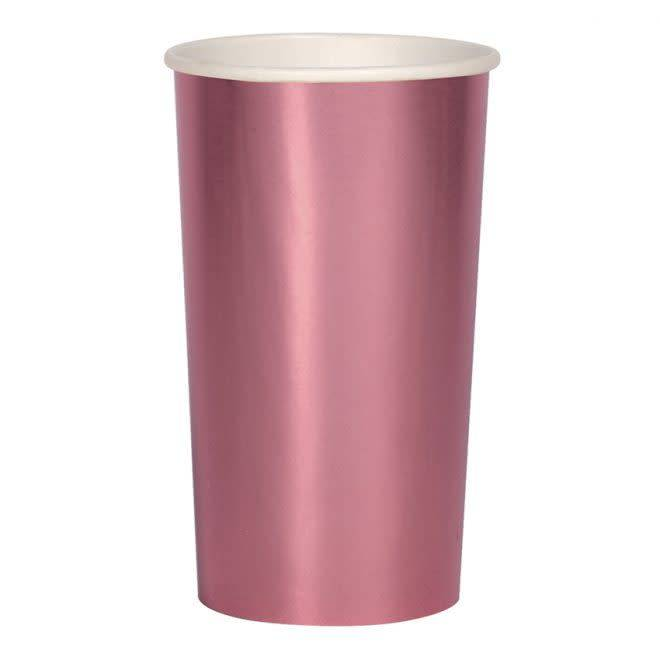 MERIMERI Metallic pink highball cups