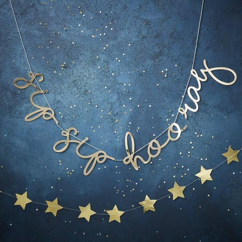 GINGERRAY Gold Christmas - Sip Sip Hooray Bunting