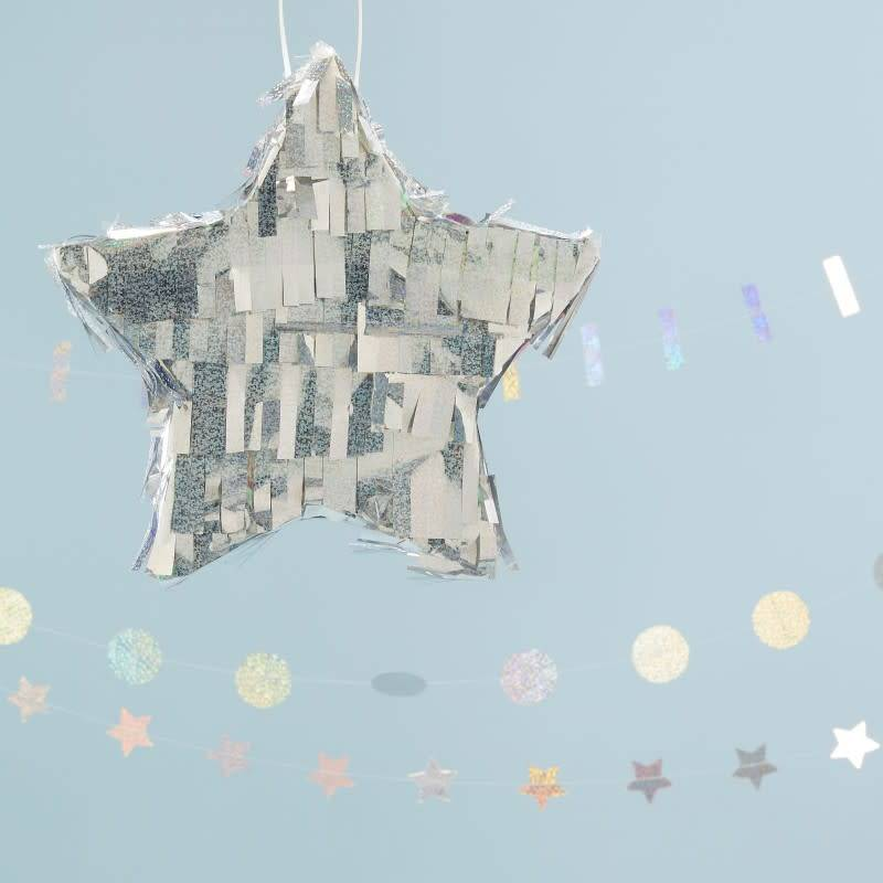 GINGERRAY Holographic Star Shaped Pinata - Jolly Vibes