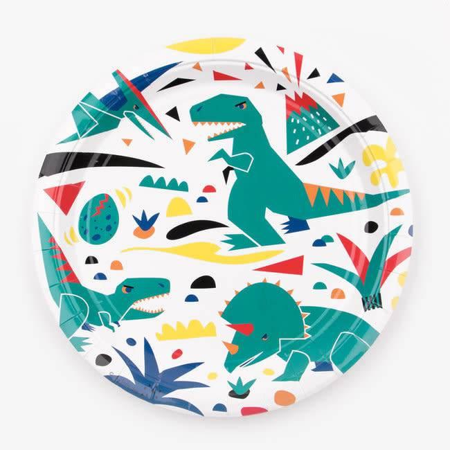 MY LITTLE DAY paper plates - dinosaur