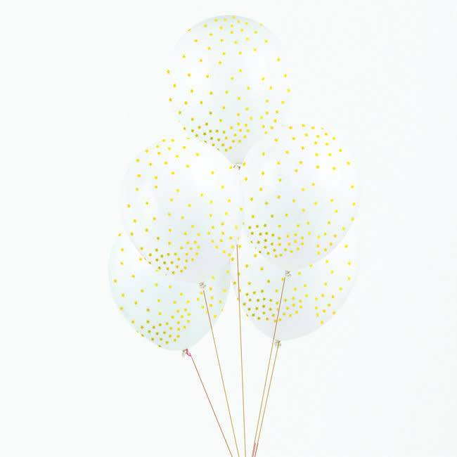 MY LITTLE DAY 5 printed balloons - golden stars