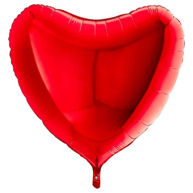 SMP heart foil balloon red 45 cm