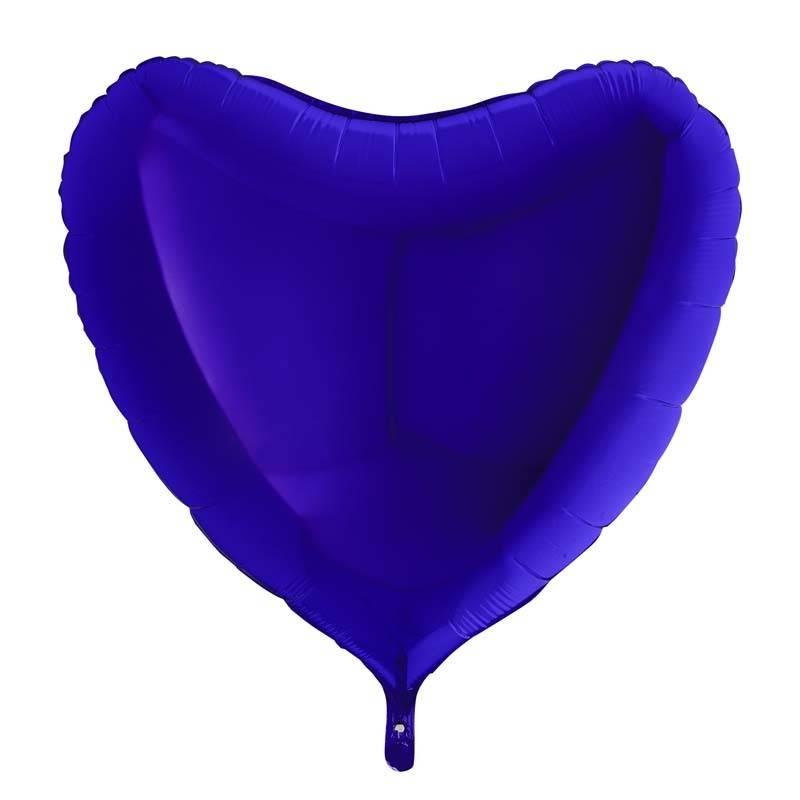 SMP heart foil balloon dark blue 45 cm
