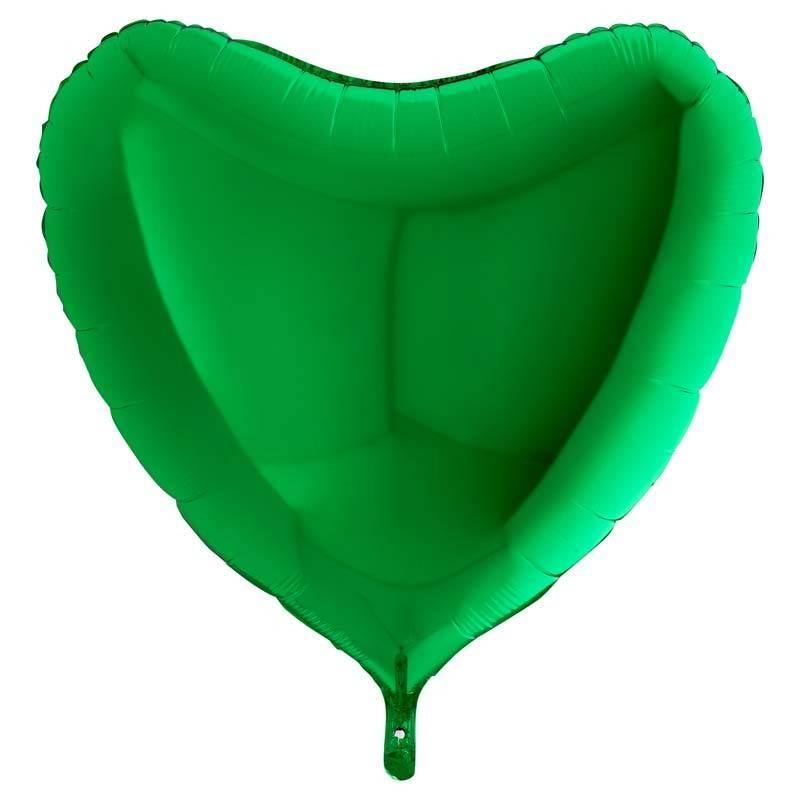SMP heart foil balloon green 45 cm
