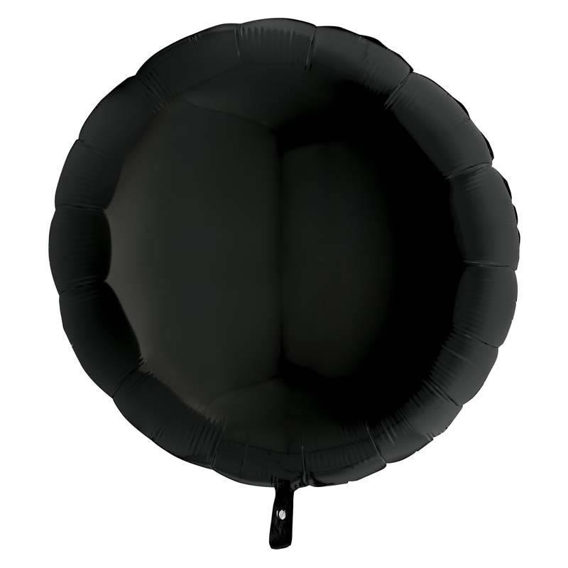 SMP circle foil balloon black 45 cm