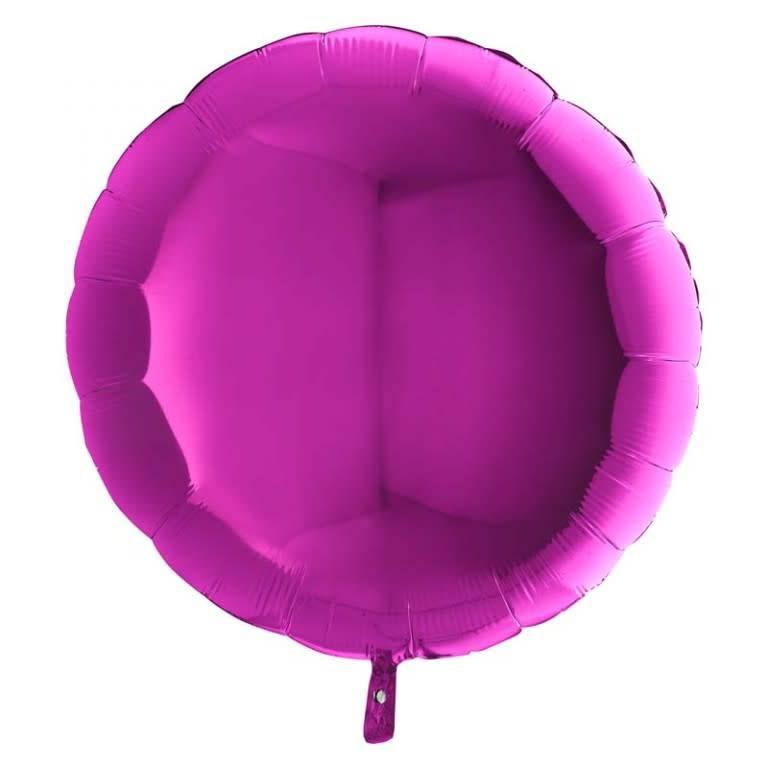 SMP circle foil balloon violet 45 cm
