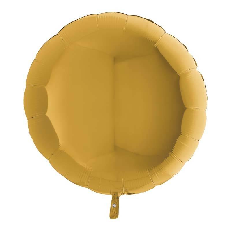 SMP circle foil balloon gold b 45 cm