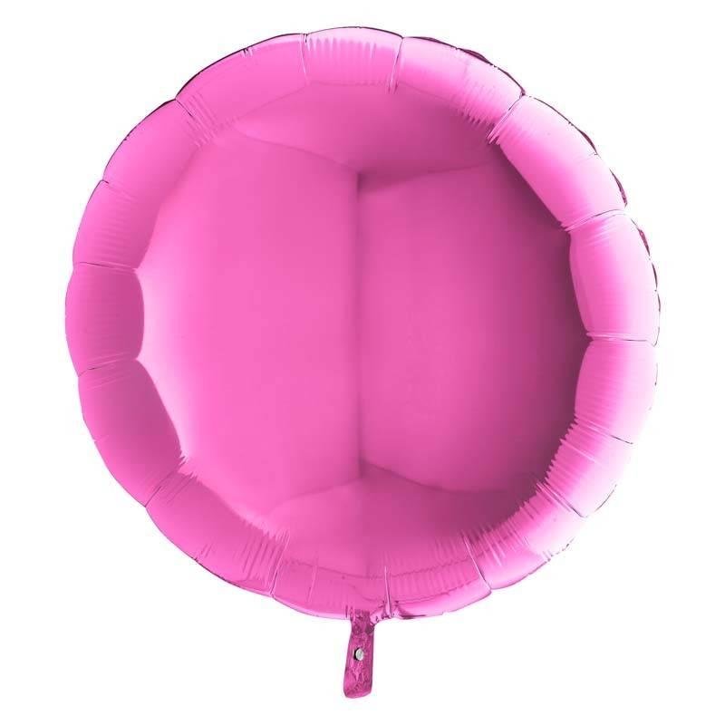 SMP circle foil balloon fuchsia 45 cm