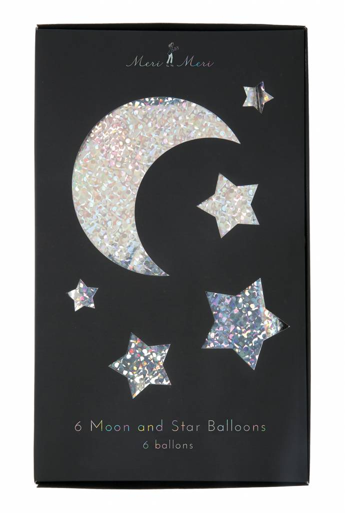 MERIMERI Moon and star balloons