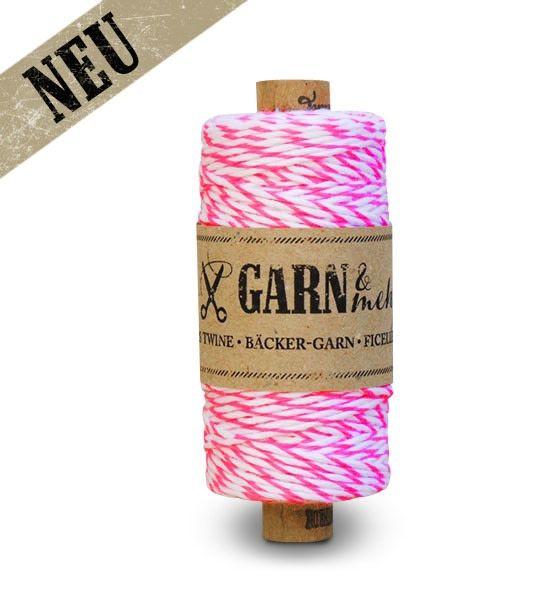 Garn & Mehr bakers twine neon pink -natural