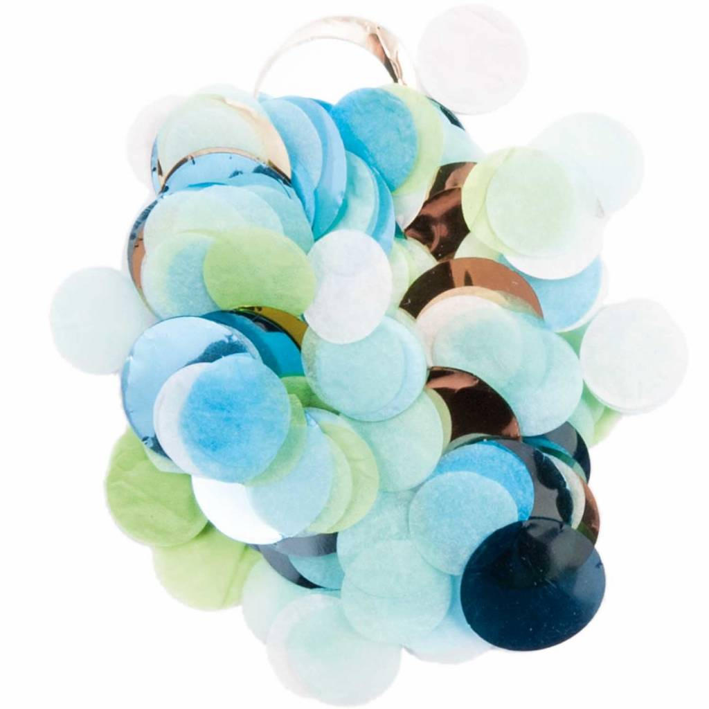 RICO CONFETTI BLUE / GREEN MIX