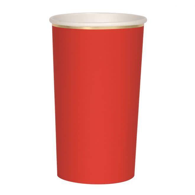 MERIMERI Red highball cups