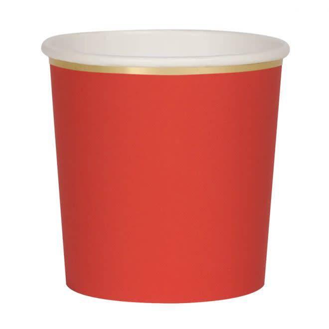 MERIMERI Red tumbler cups