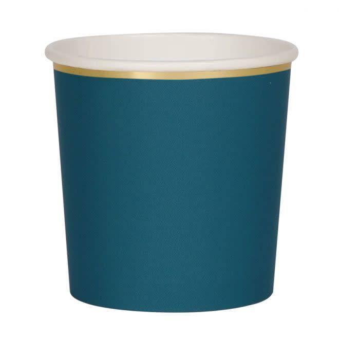 MERIMERI Dark teal tumbler cups