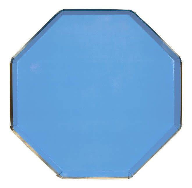 MERIMERI Bright blue dinner plates