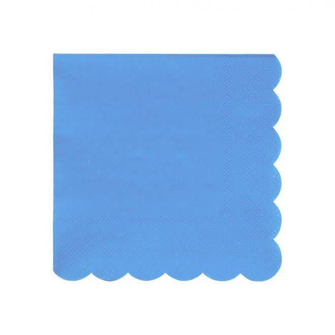 MERIMERI Bright blue napkins S