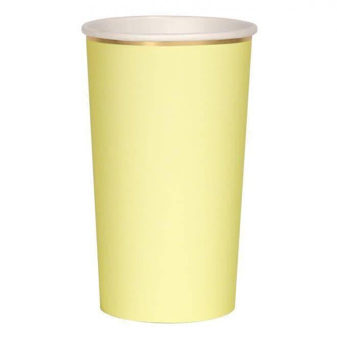 MERIMERI Pale yellow highball cups