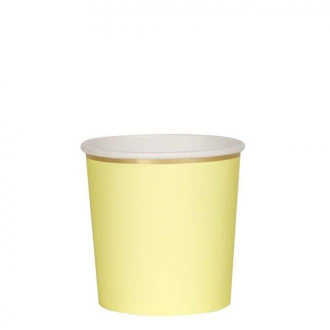 MERIMERI Pale yellow tumbler cups