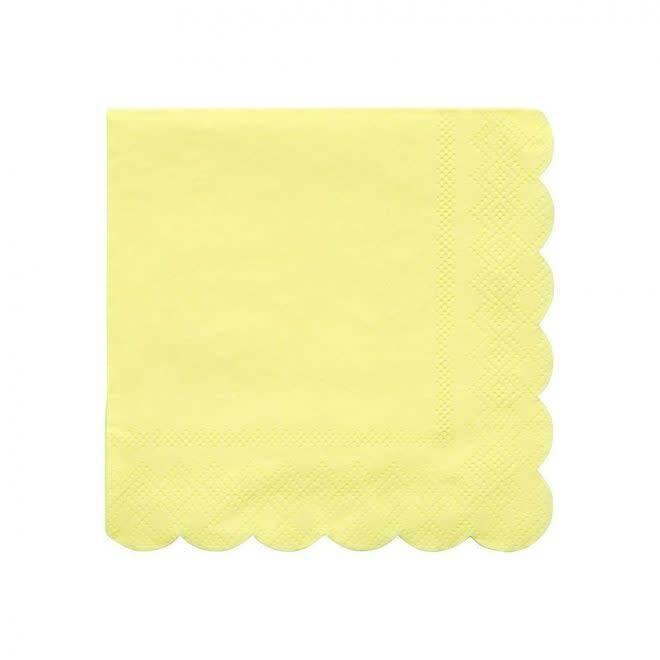 MERIMERI Pale yellow napkins S