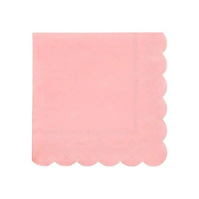MERIMERI Neon coral napkins S