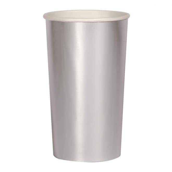 MERIMERI Silver highball cups