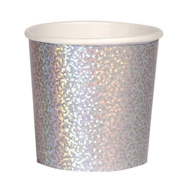 MERIMERI Silver sparkle tumbler cups