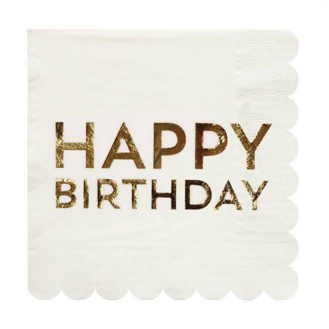 MERIMERI Birthday gold napkins L
