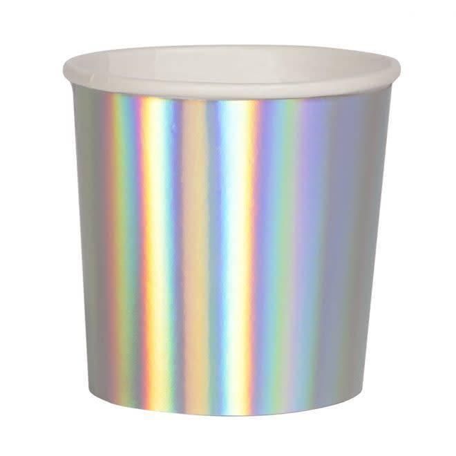 MERIMERI Holographic silver tumbler cups