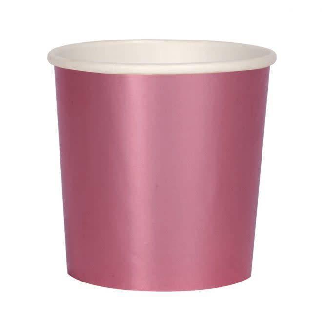 MERIMERI Metallic pink tumbler cups