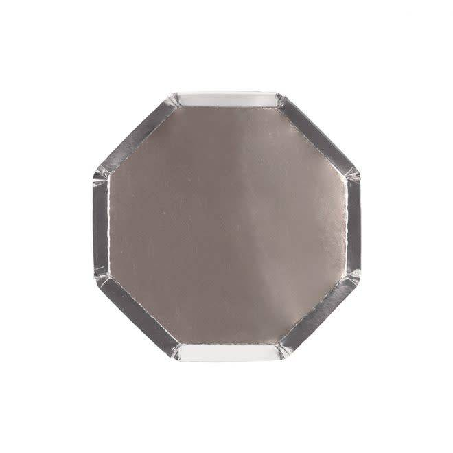 MERIMERI Silver cocktail plates