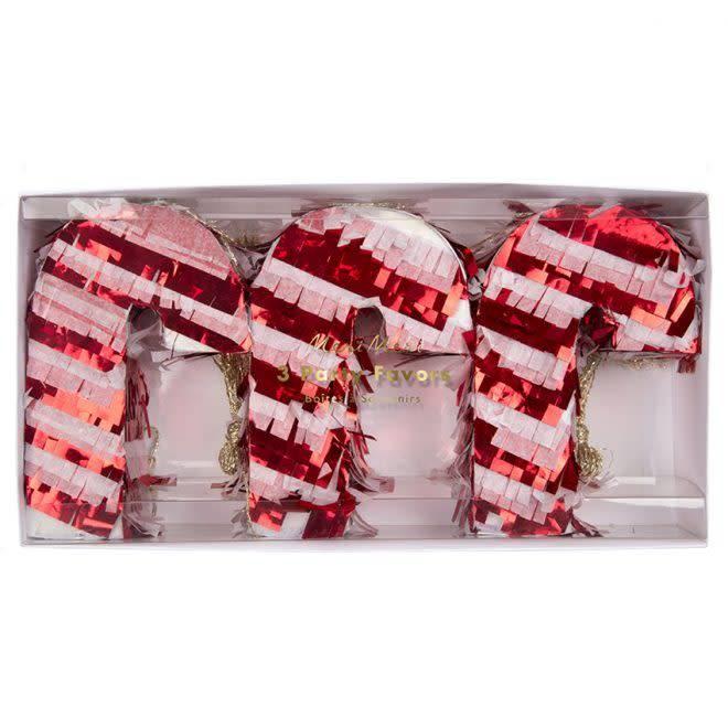 MERIMERI Candy cane piñatas favors