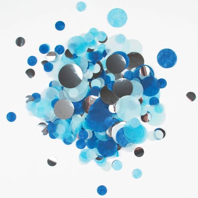 MY LITTLE DAY confetti blue & silver