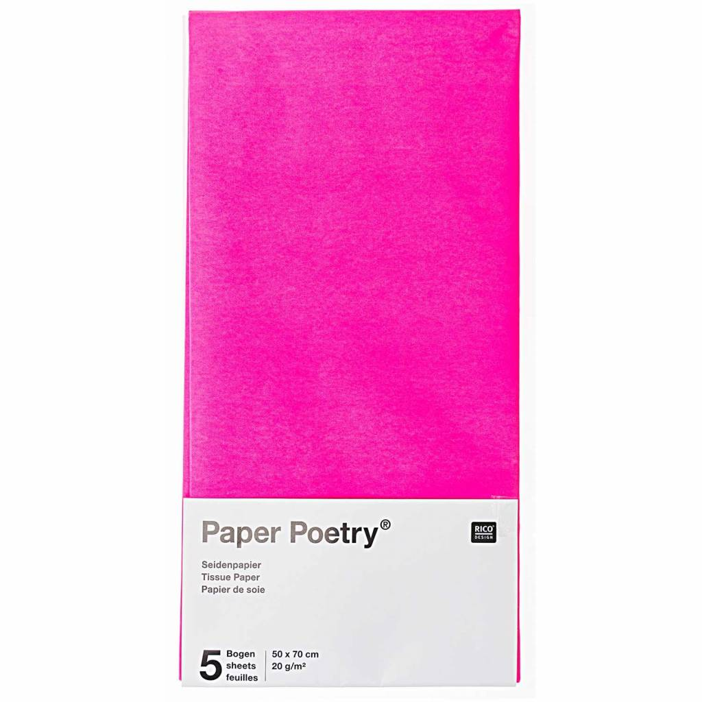 RICO TISSUE PAPER, FLUO PINK