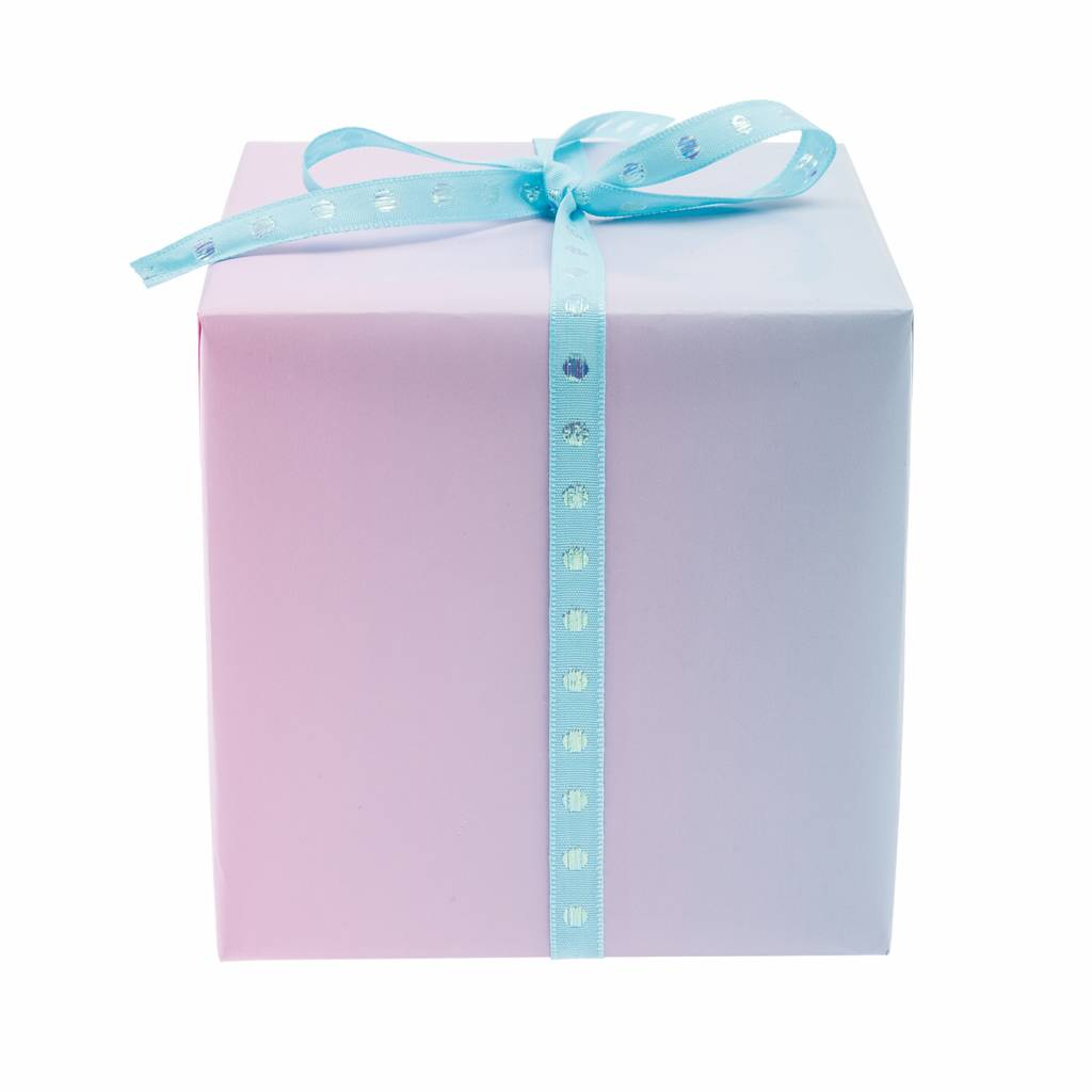 RICO WRAPPING PAPER GRADIENT YELLOW PINK GREEN