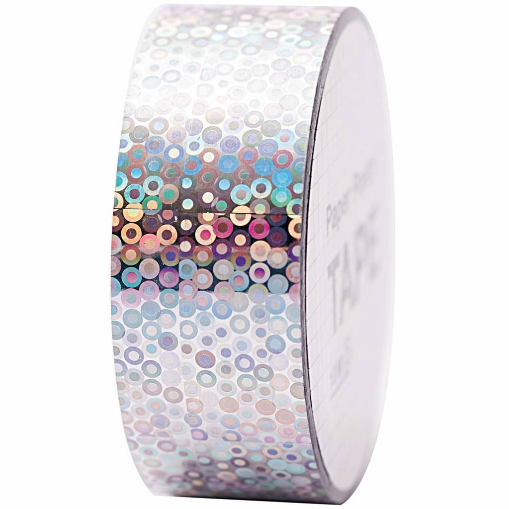 RICO HOLOGRAPHIC TAPE, RINGS SILVER