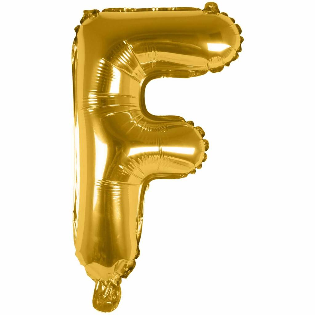 RICO Foil letterballoon small gold F