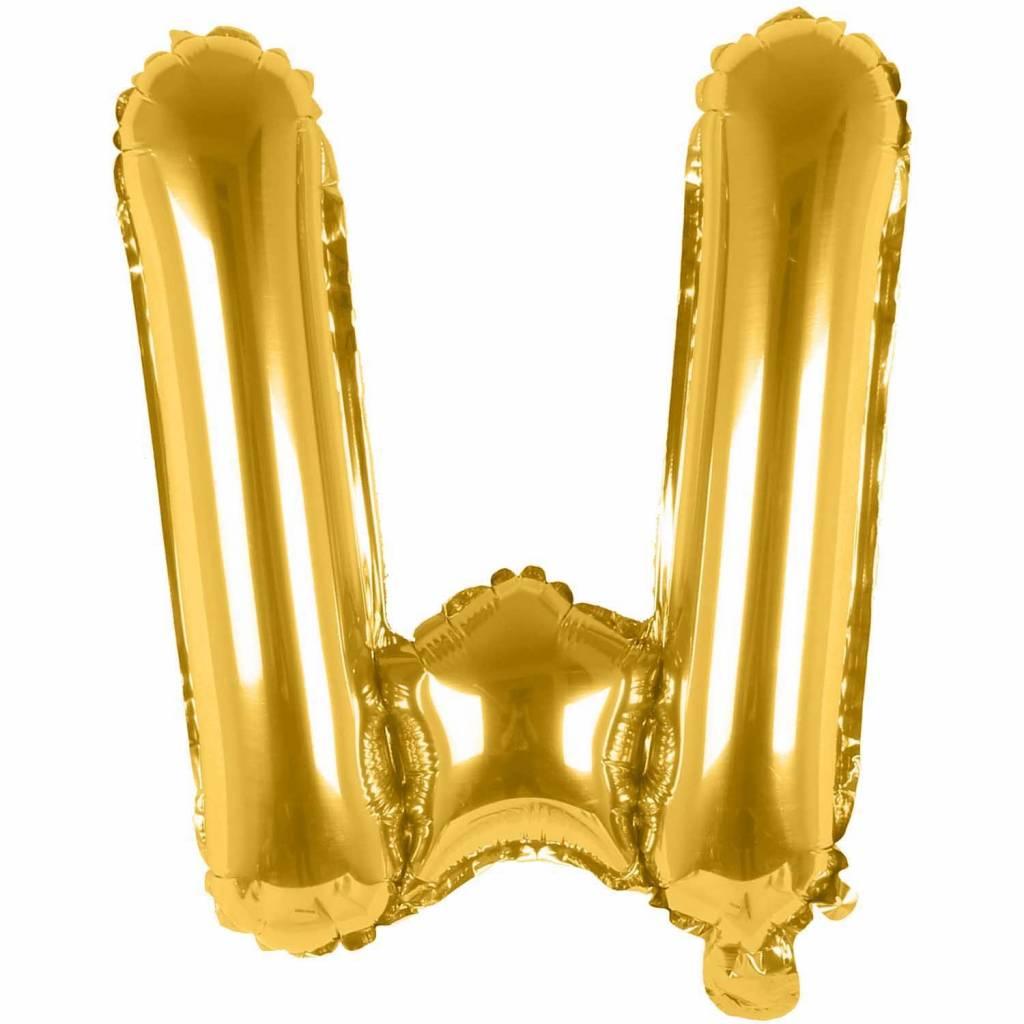 RICO Foil letterballoon small gold W