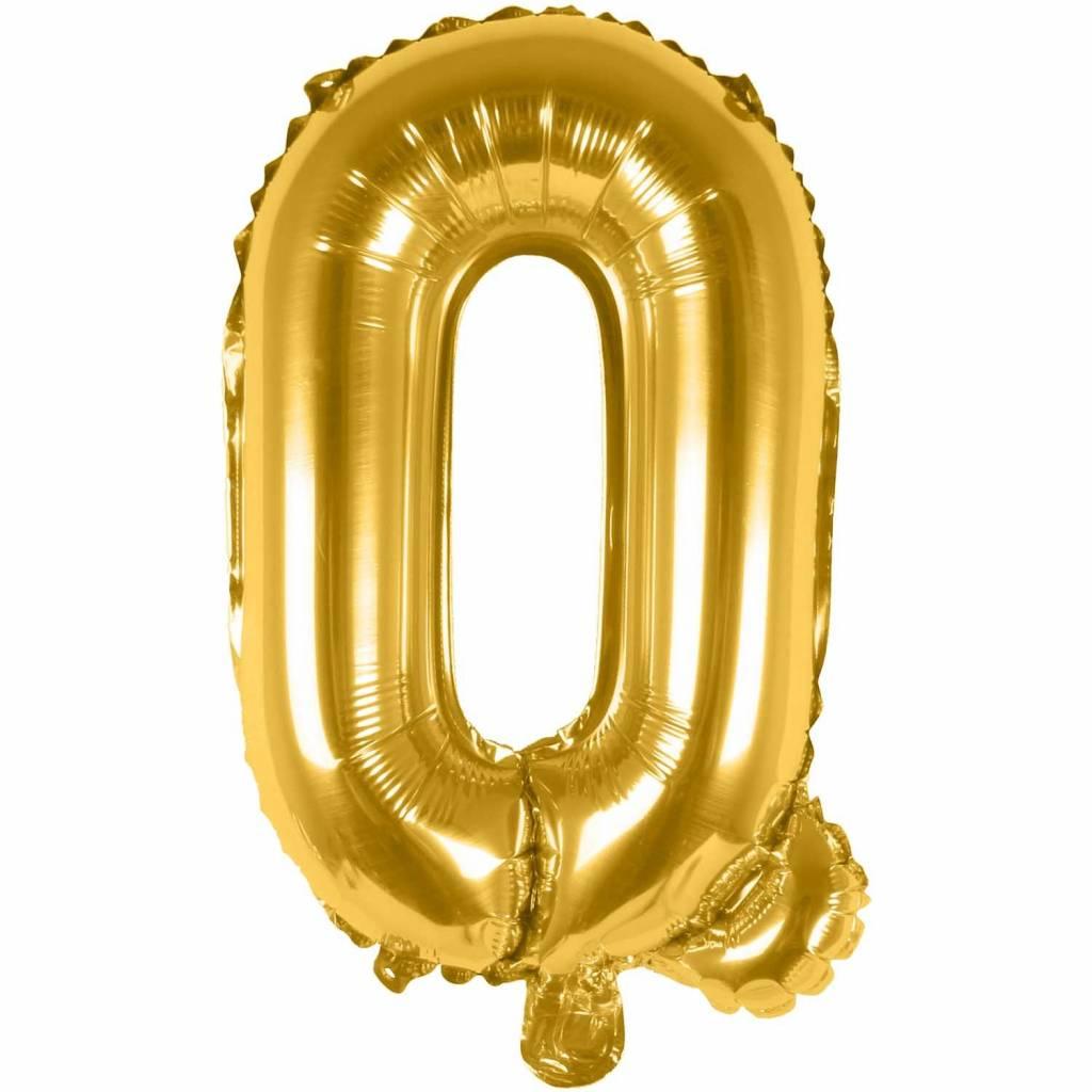 RICO Foil letterballoon small gold Q