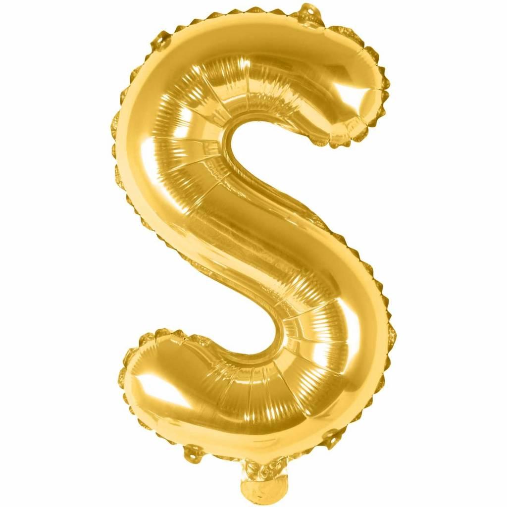 RICO Foil letterballoon small gold S