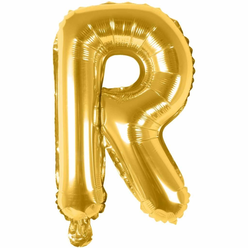 RICO Foil letterballoon small gold R