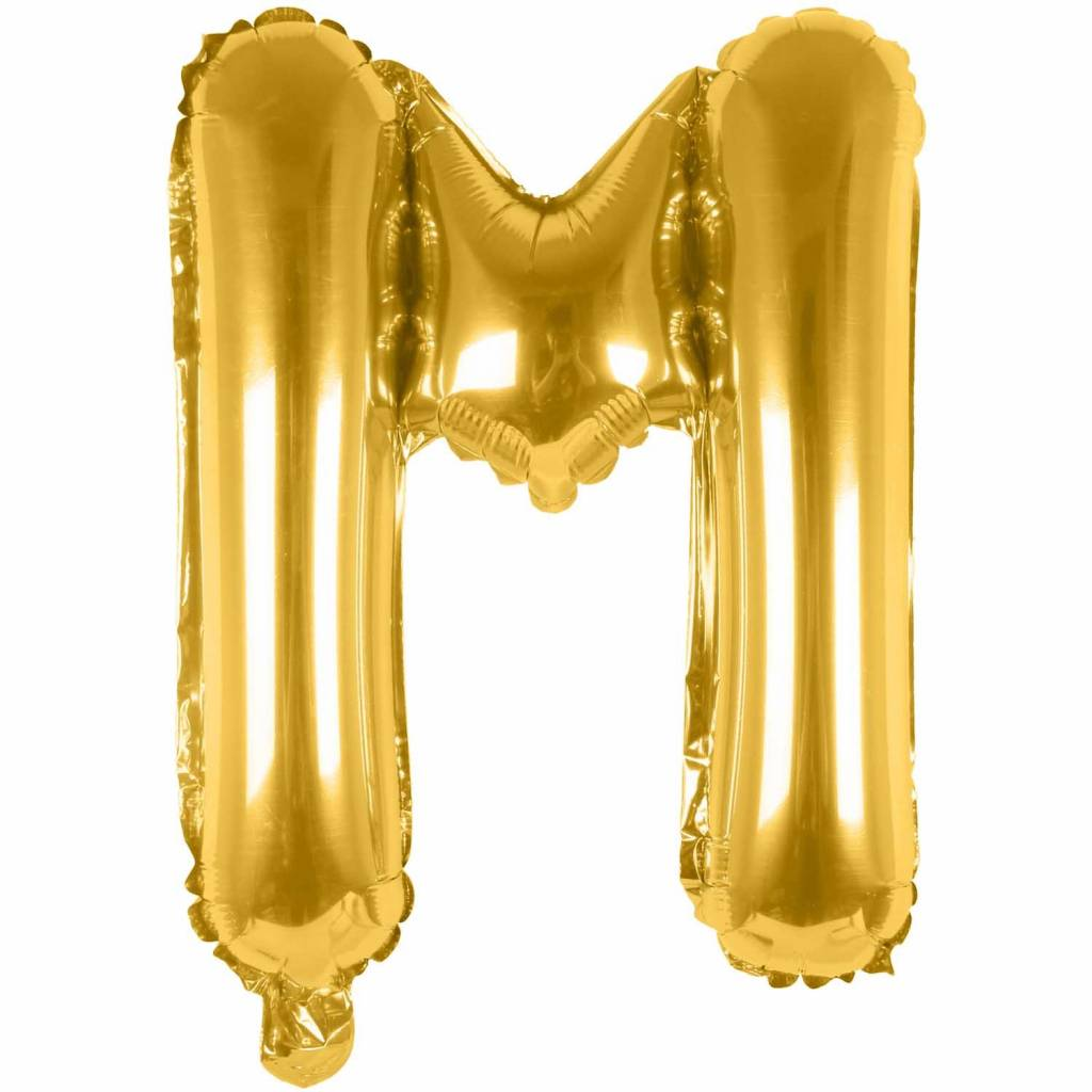 RICO Foil letterballoon small gold M
