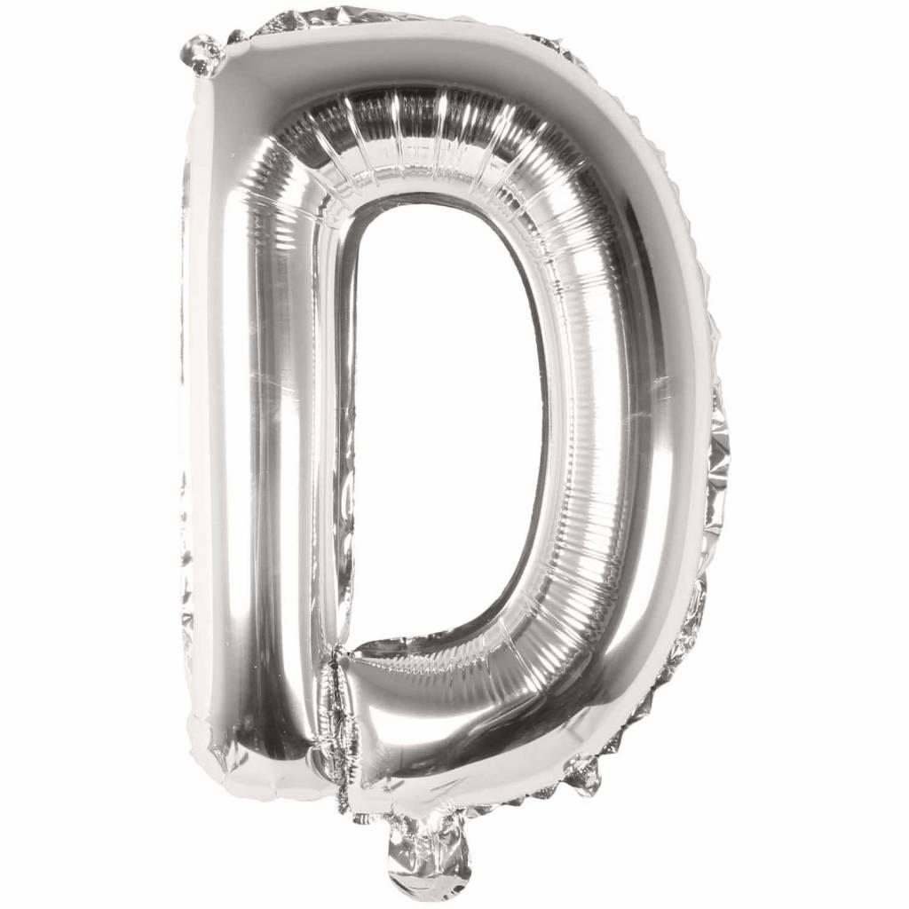 RICO Foil letterballoon small silver D