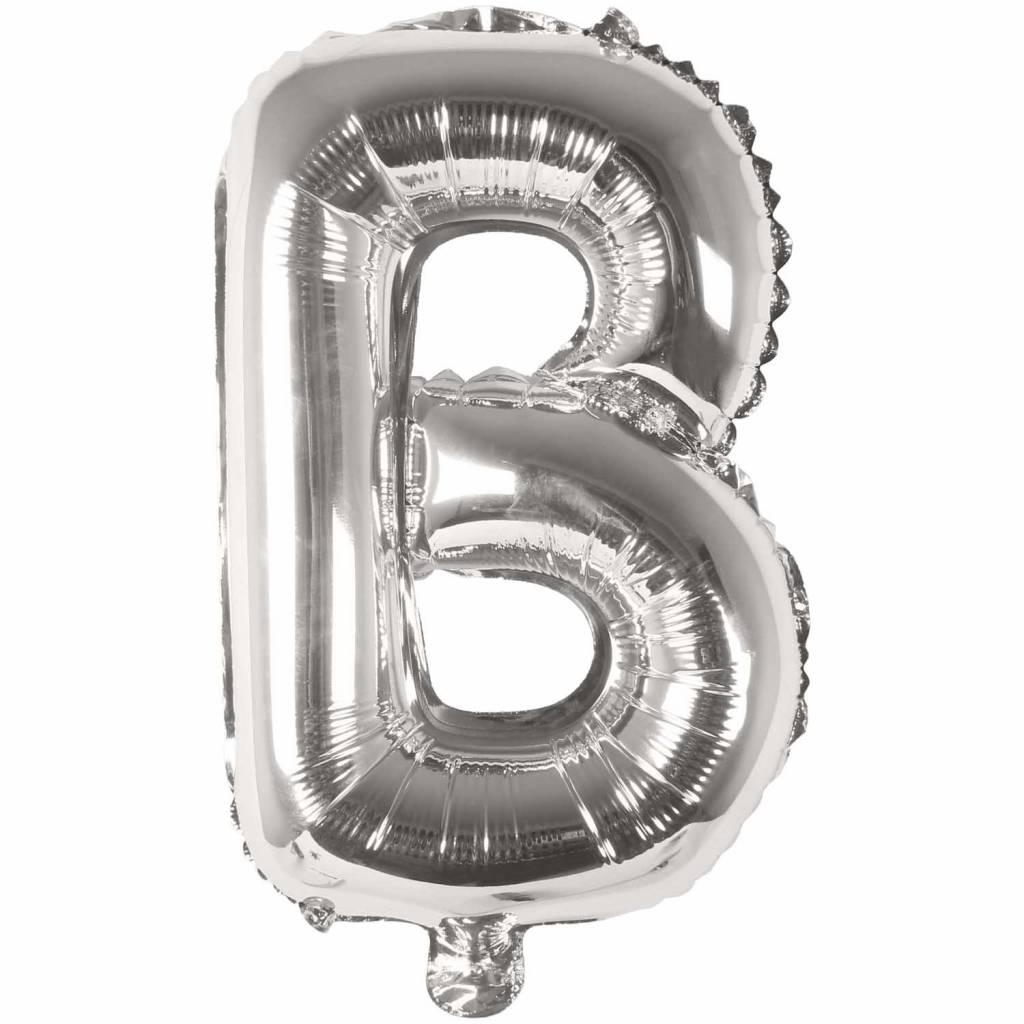 RICO Foil letterballoon small silver B