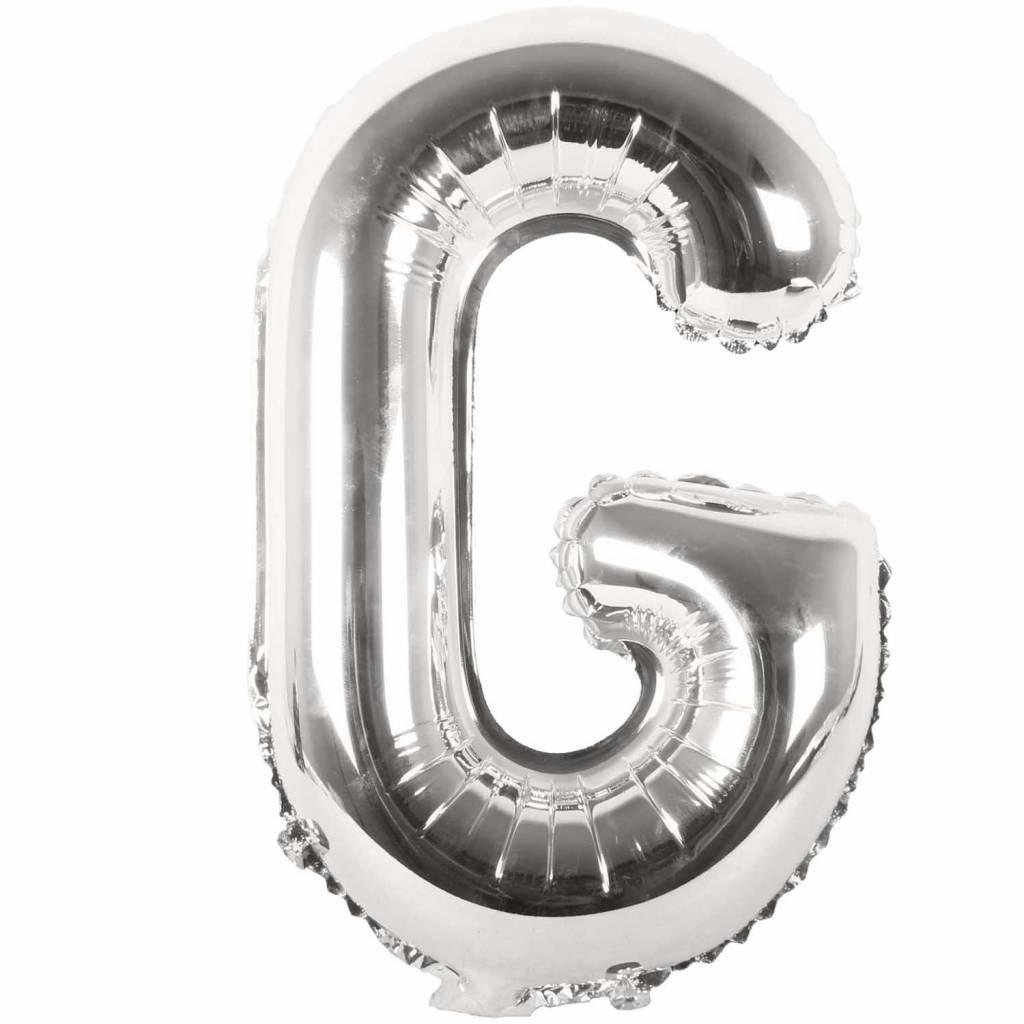 RICO Foil letterballoon small silver G