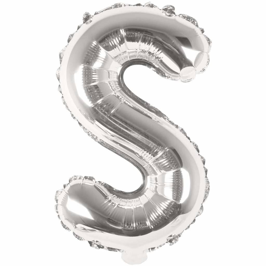 RICO Foil letterballoon small silver S