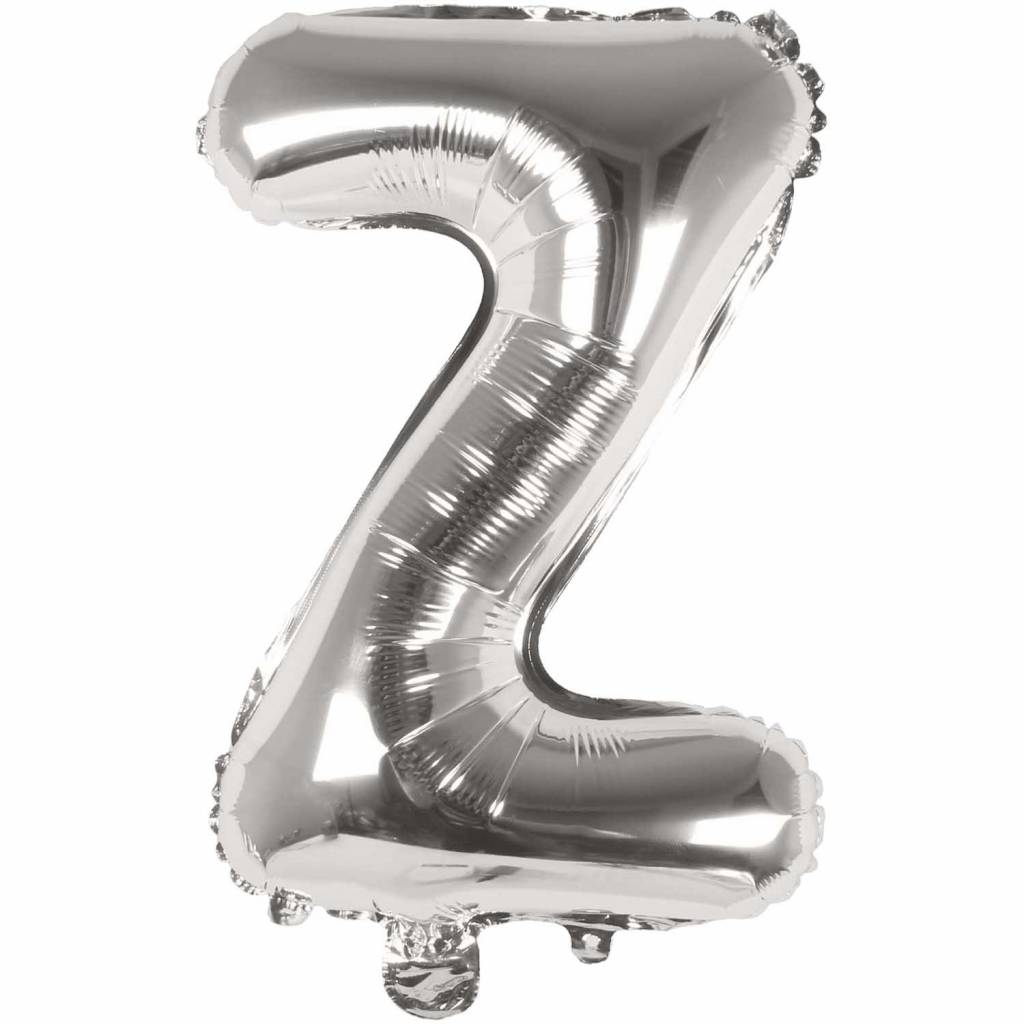 RICO Foil letterballoon small silver Z