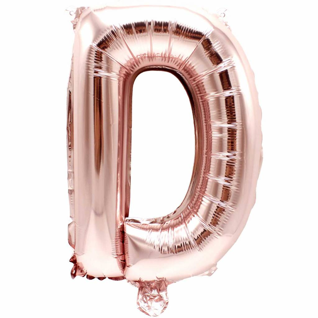 RICO Foil letterballoon small rose gold D